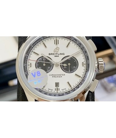 (one belt for double 11)               Brand: new Breitling Puya B01 chronograph               Produced by Taiwan factory V8, the original genuine open mold, create a perfect replica, multi-functional mechanical watch [exquisite workmanship] - both inside