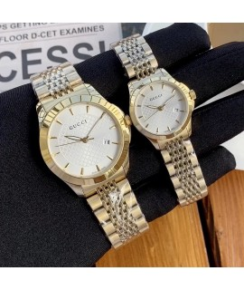 Affectionate and noble gift               [brand] Gucci               [type] couple pairs               [movement] imported quartz movement               [material] 316L steel case               Mineral reinforced glass mirror               Leather strap