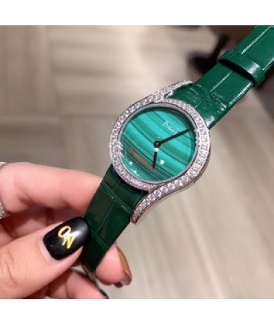 upgraded sapphire buckle with diamond               69 Earl Roman holiday upgrade With Italian cowhide Earl Piaget new limelight Gala series jewelry wristwatch