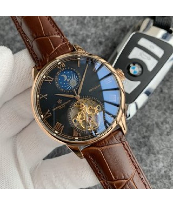 2020 latest men's watch Vacheron Constantin flywheel multi-function automatic mechanism fashion new versatile style unique literal design color fashion men's watch fine workmanship imported from Asia automatic machinery Stable quality material: 316L ste