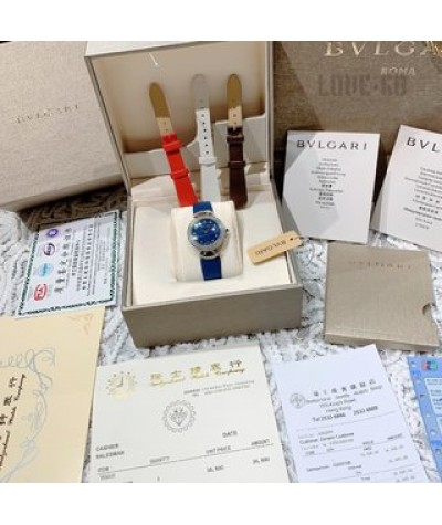 exclusive live shot               Bvlgari | Bulgari's luxury quality is made of Italian silk calf, super soft and close to the hand
