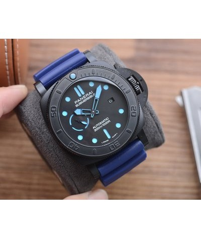 [V7 version newly launched, exclusive for sale] panahai superior bmg-tech - 47mm stealth series metallic glass wristwatch with original imported 2555 fully automatic mechanical movement is made of panahai brand new material bmg-tech, which has ultra-hig