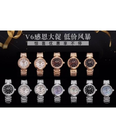 [V6 special price, special price, a small amount of special price, first served, limited quantity] Omega dish flying bird's nest series ladies must choose, 34x13mm, change 8520 automatic mechanical movement, the same as authentic ceramic liner, natural di