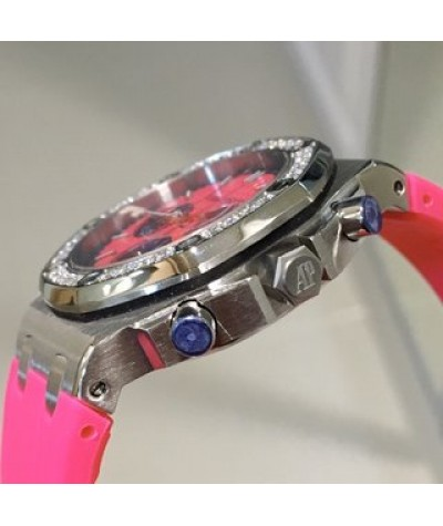 AP - Abby Royal Oak Offshore               Super cool and dazzling women's clothing, colorful with six needle timing, imported quartz movement, sapphire scratch proof glass, 316 steel shell cover, imported rubber belt, the best classic of Aibi women's sty